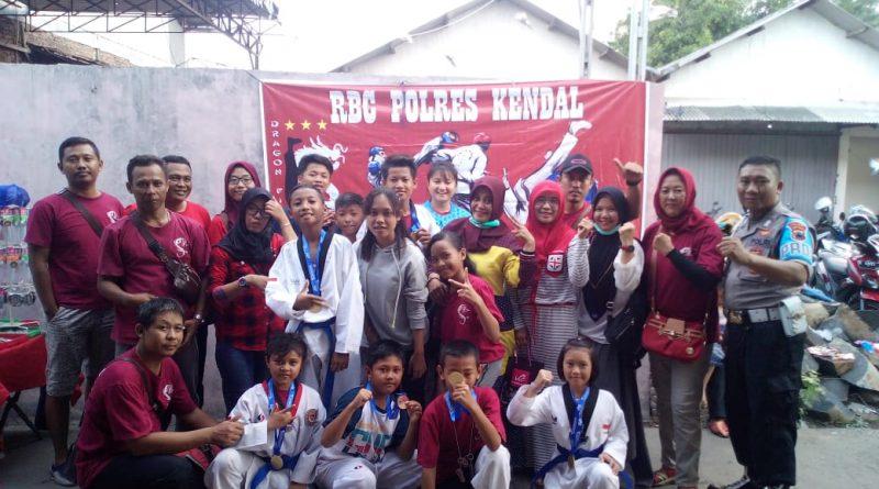 Kejuaraan Pengkab Kendal 2019, Atlet Taekwondo RBC Polres Kendal Raih 12 Medali