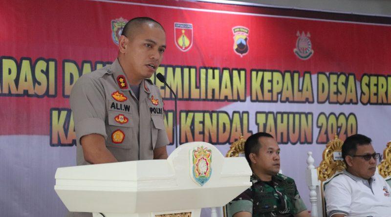 Deklarasi Aman Damai, Kapolres Kenal Imbau Calon Kepala Desa Siap Menang dan Siap Kalah
