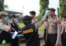 Amankan Pilkades Serentak, Polres Kendal Cek Suhu Tubuh Anggota Cegah Penyebaran Virus Covid-19