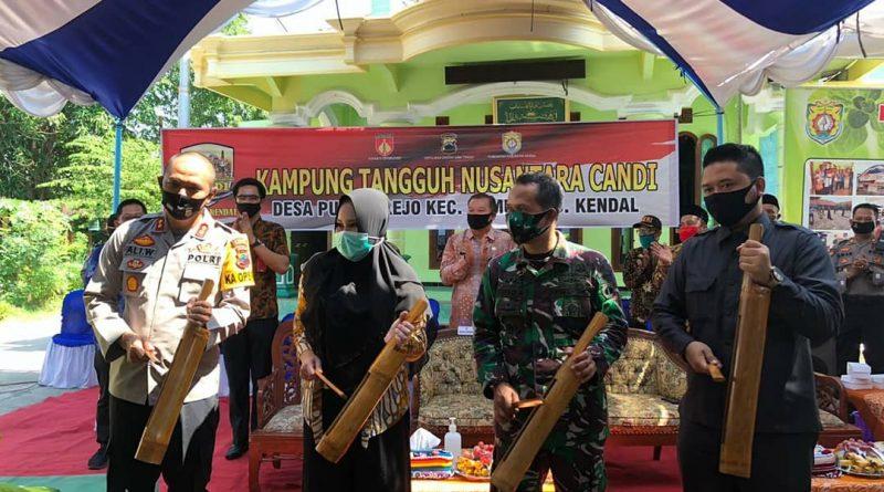 Kapolres Kendal Bersama Forkompimda Resmikan Kampung Tangguh Nusantara di Kecamatan Gemuh