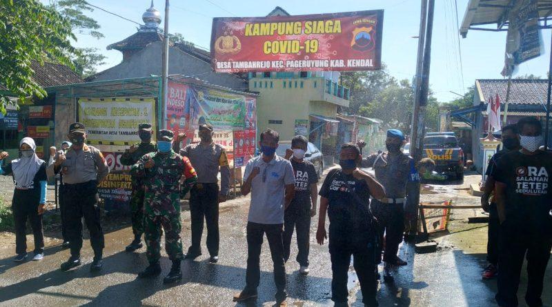 Menuju New Normal Kapolsek Pageruyung Bentuk Kampung Siaga Covid19 di Desa Tambahrejo