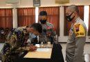 Polres Kendal Gelar Pengambilan Sumpah dan Penandatangan Pakta Integritas Penerimaan Polri 2020