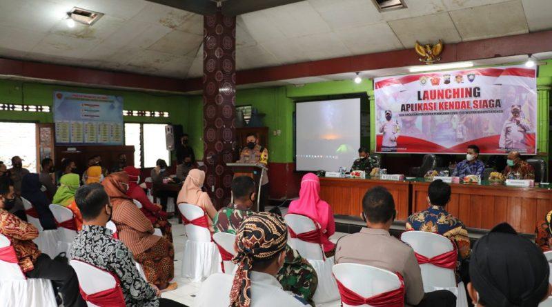Percepat Penanganan Covid19, Kapolres Kendal Launching Aplikasi Kendal Siaga