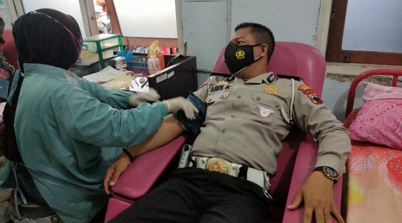 HUT Lalu Lintas ke-66, Sat Lantas Polres Kendal Gelar Bakti Sosial Donor Darah